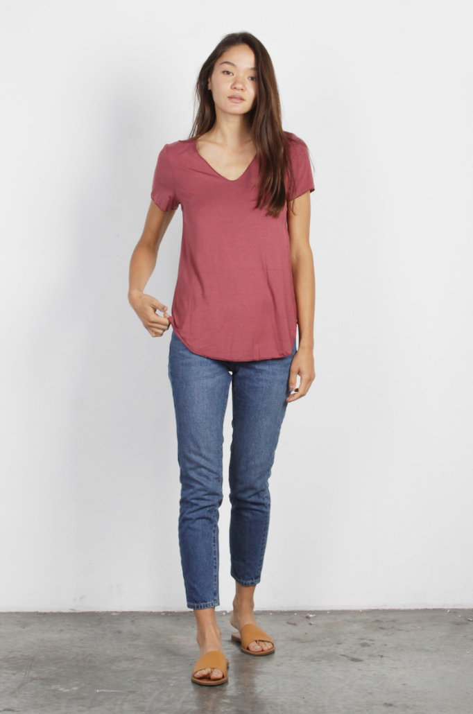 Everyday Shortsleeve Top - Marsala