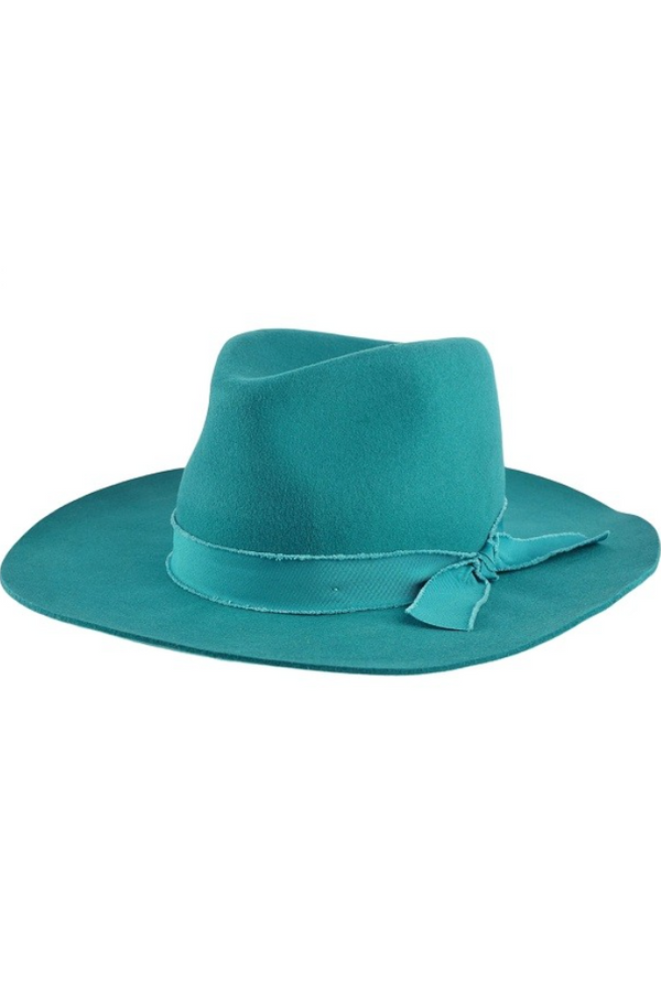 'Billie' Felt Hat - Teal
