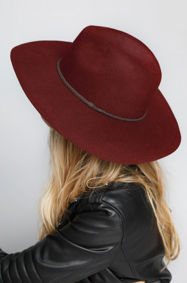 'Won't Forget' Hat - Burgundy