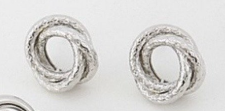 Hammered Knot Earrings