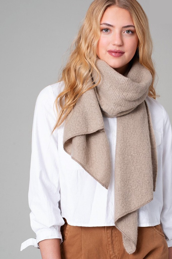Fuzzy Scarf - Taupe