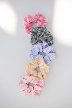 Striped Scrunchie - Blue