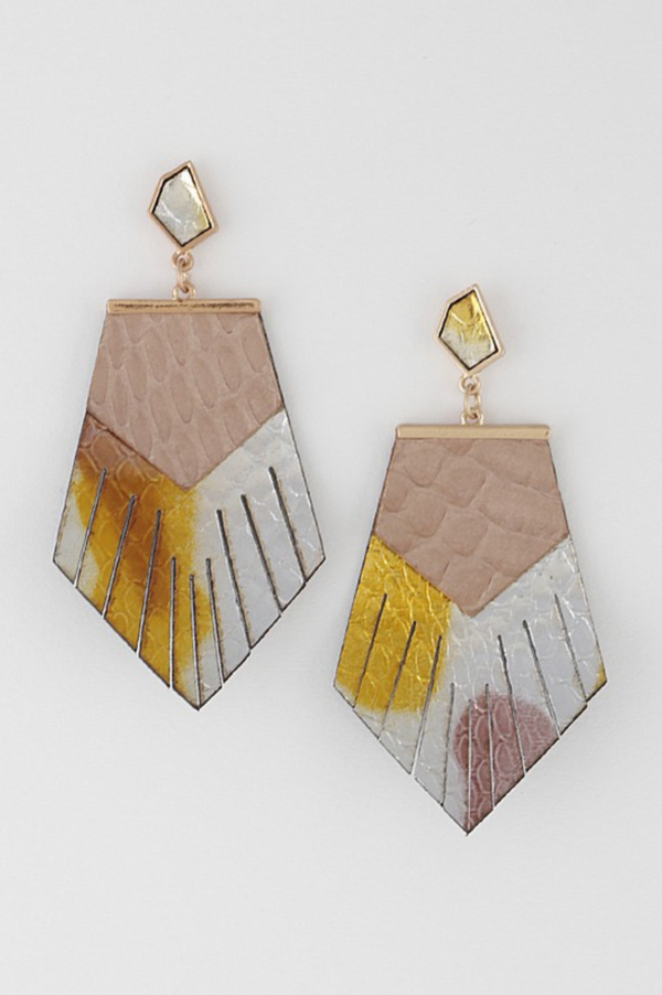 Multi Color Fringe Earrings
