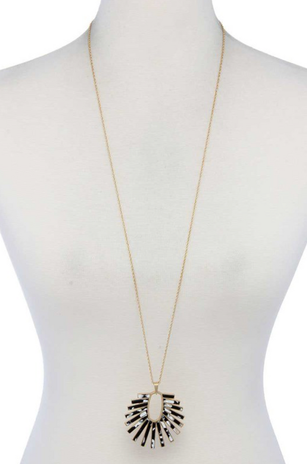 Acetate Burst Necklace - Black