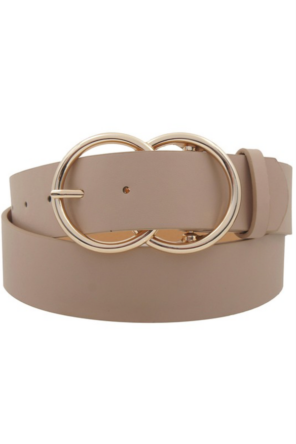 Double O Ring Belt - Taupe