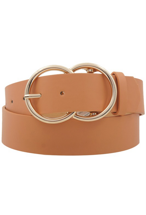 Double O Ring Belt - Clay