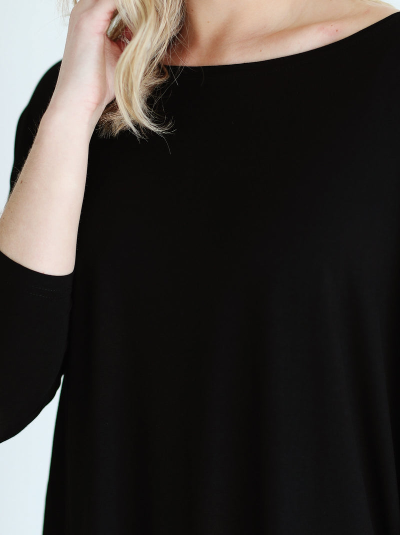 3/4 Piko Top - Black