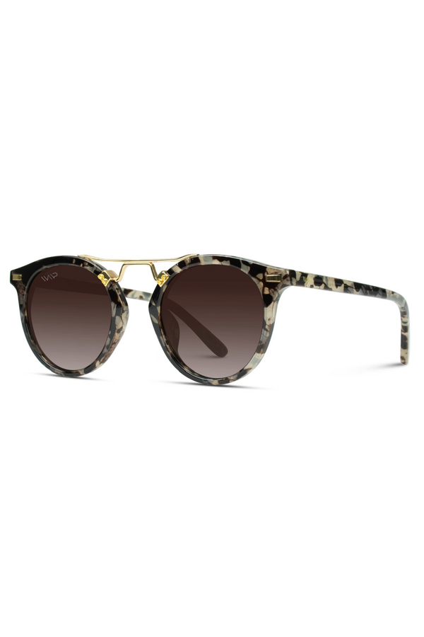 Skyler Round Polarized Modern Double Metal Bridge