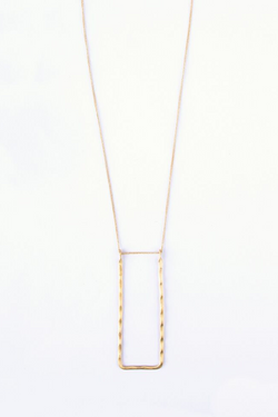 Gold Frame Necklace