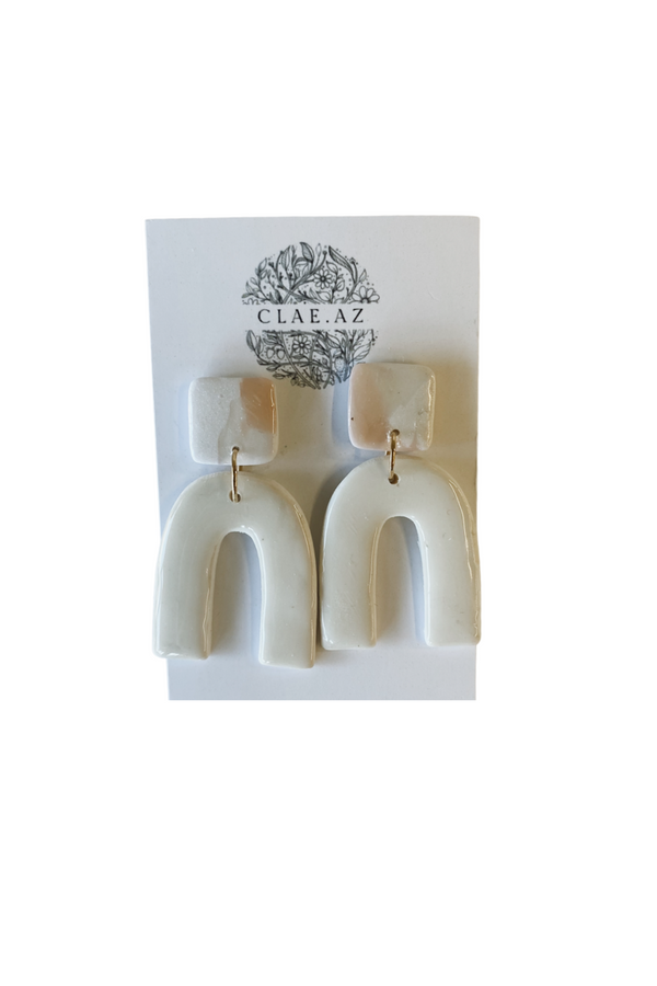 Arches Clay Earrings