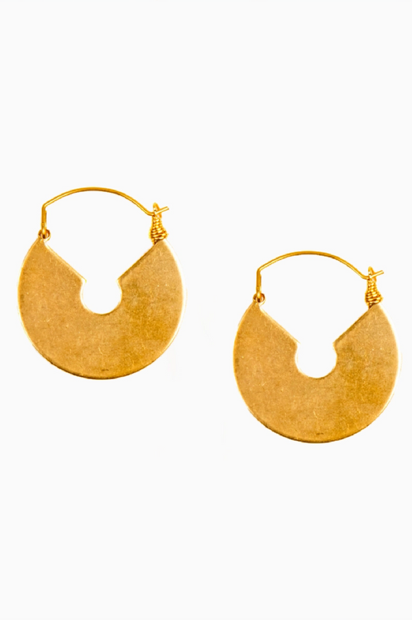 Keyhole Hoop Earrings