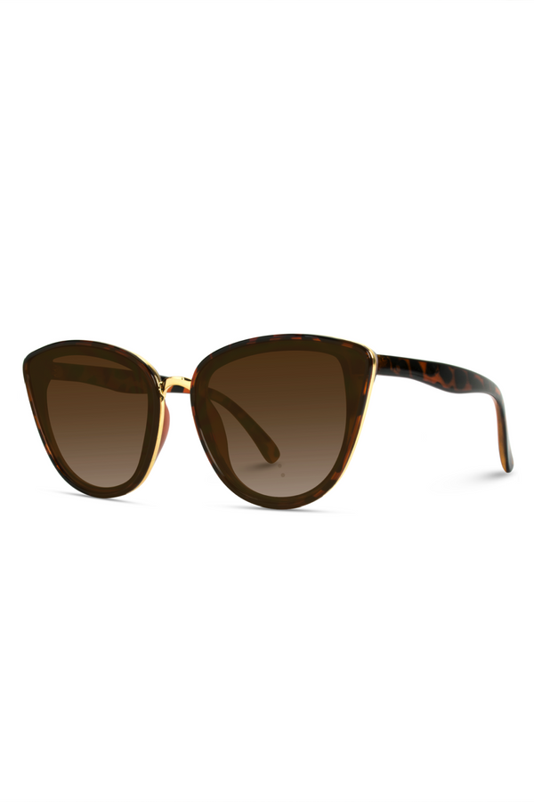 Aria Mirrored Cateye Sunglasses - Tortoise
