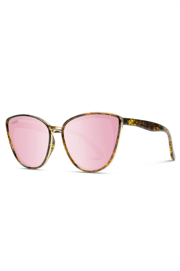 Aria Mirrored Cateye Sunglasses - Pink