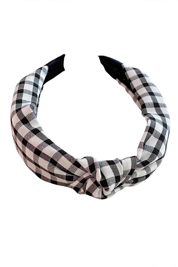 Black Gingham Headband