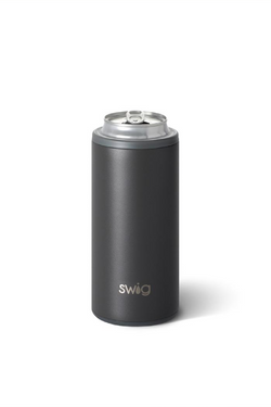 Skinny Can Cooler - Matte Gray