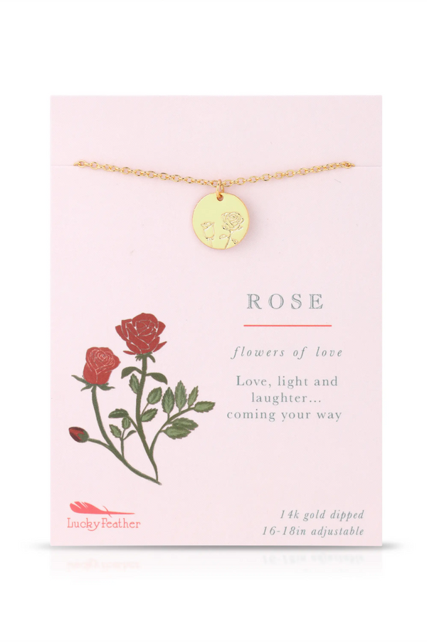 Botanical Necklace - Rose