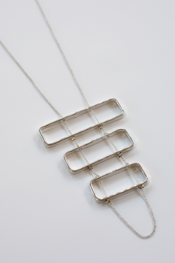 Silver Stacked Necklace