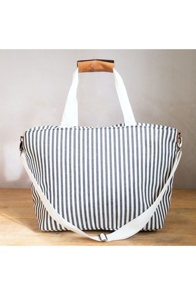 Striped Cooler Tote