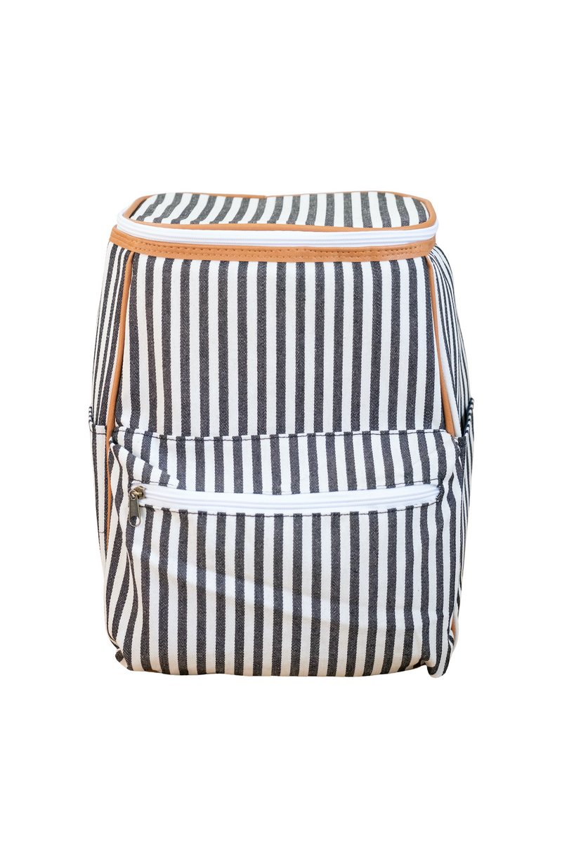 Striped Cooler Backpack