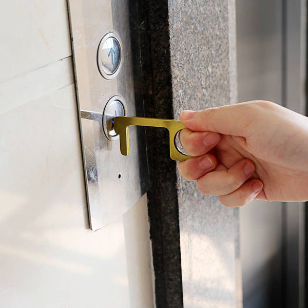 Touch Free Door Opening and Button Pushing Key Chain