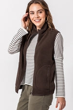 Lightweight Sherpa Vest - Dark Brown