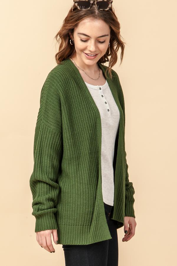 'All I Want' Cardigan - Dark Green