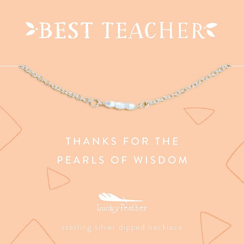 Teacher Necklace - Pearls of Wisdom