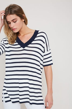 'Starting Now' Top - Navy
