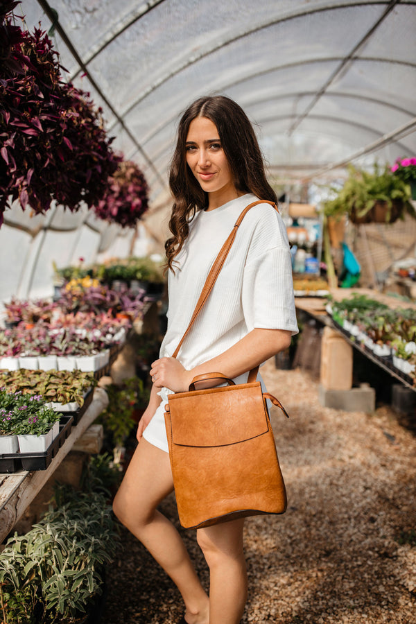 'Saved for Later' Convertible Bag - Brown