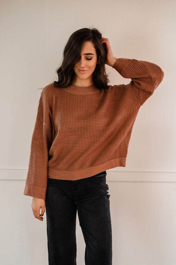 'Young + Free' Sweater - Ash Rose