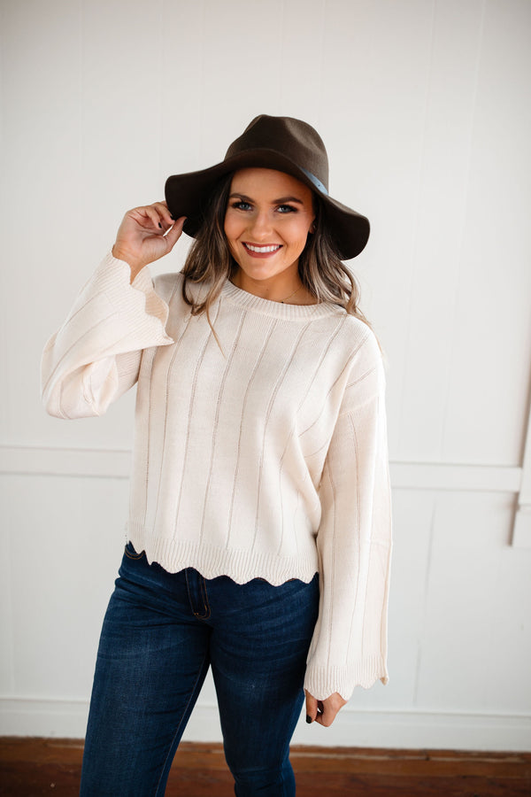 'Hold You Close' Sweater - Ivory