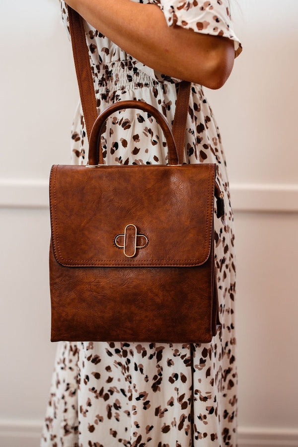 Break Free' Convertible Bag - Brown