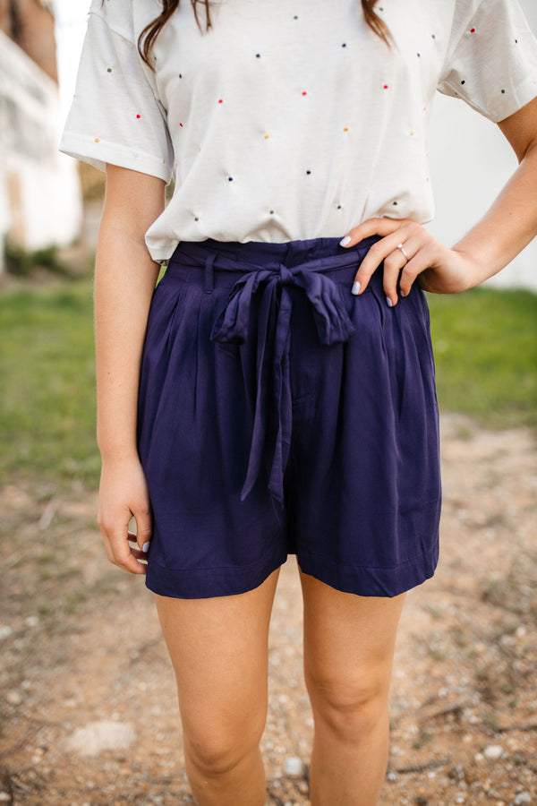 'Under the Radar' Shorts - Navy