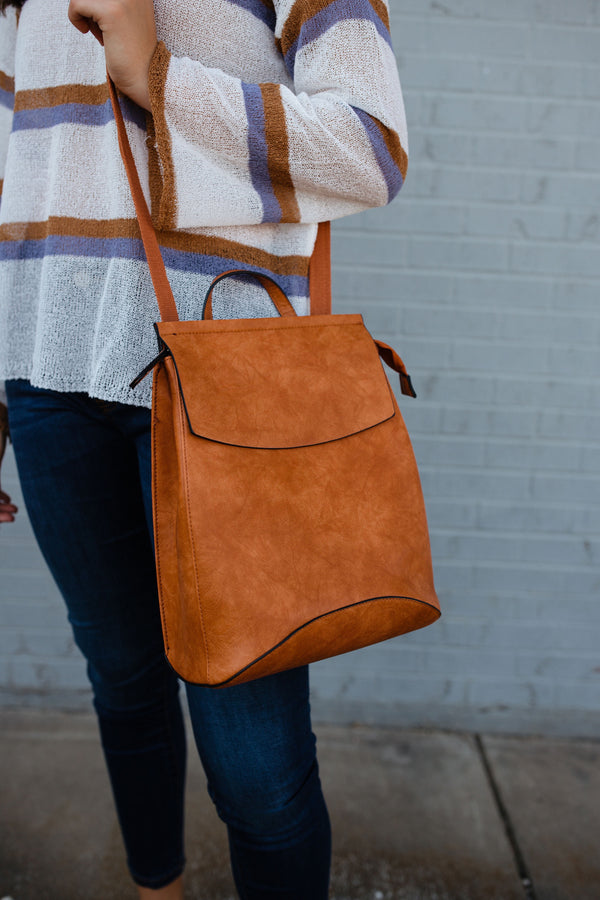 'Saved for Later' 3-in-1 Bag - Cognac