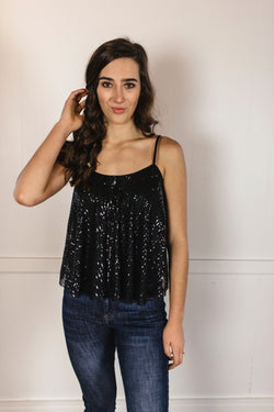 'Time to Twinkle' Top - Black