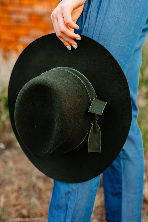 'Billie' Felt Hat - Olive
