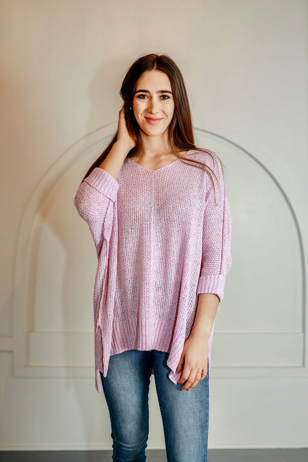 'All Night' Sweater - Lilac Pink
