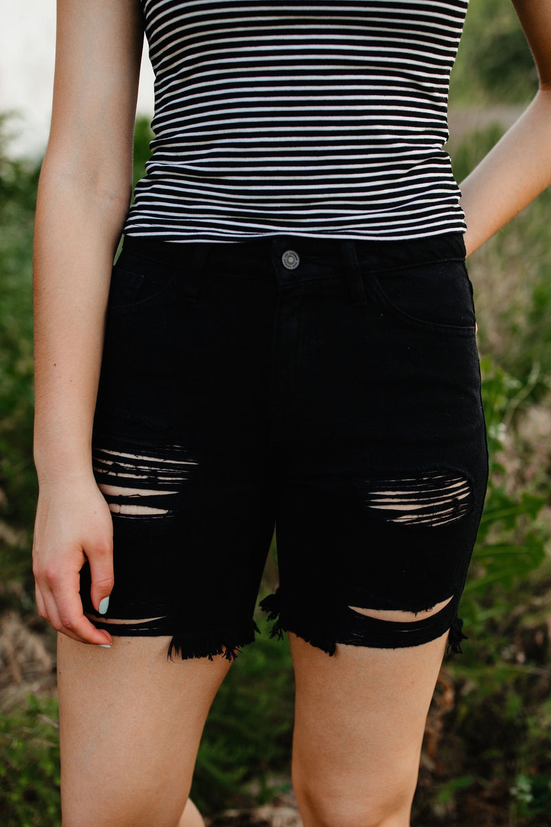 'Karly' High Rise Shorts