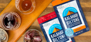 Spicy Peri Peri Biltong by Kalahari Biltong is a great snack to enjoy with your favorite craft brew