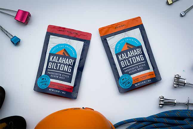 kalahari biltong original and spicy peri peri