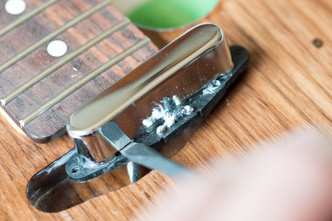 how to remove the cover from a tele neck pickup. Black Bedroom Furniture Sets. Home Design Ideas