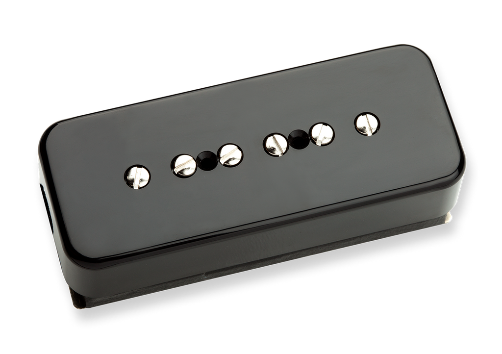 Seymour Duncan P-90 Stack STK-P1 P90 Black Bridge 11302-14-Bc Top, SD photo