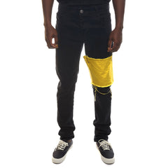 Yellow Legband Jeans