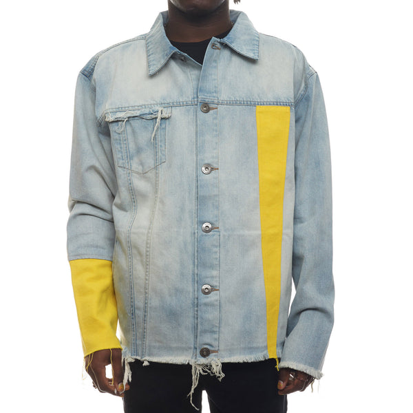 Yellow Sleeve Denim JKT