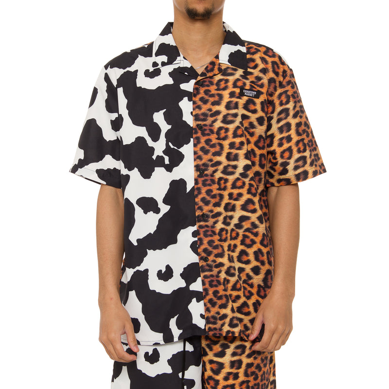 Chinatown Market Animal Print Woven Top