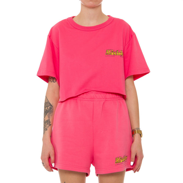 The MBH Hotel & Spa Cropped T-Shirt Pink