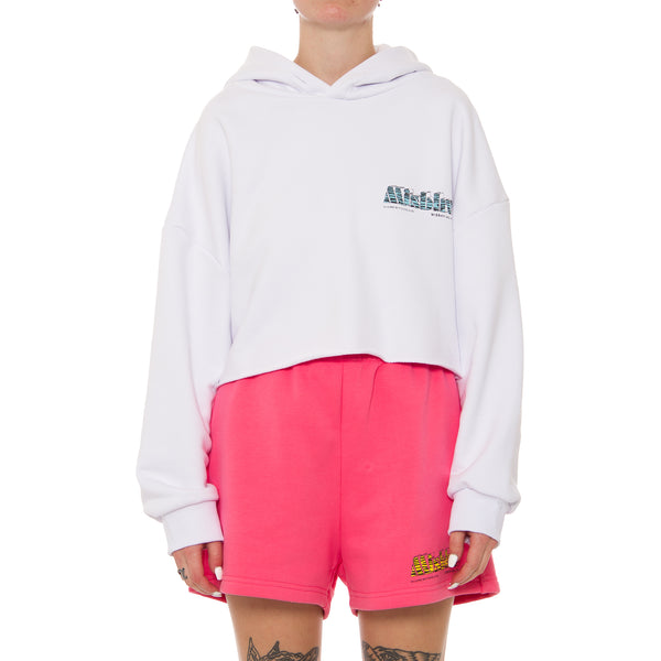 The MBH Hotel & Spa Cropped Hoodie White