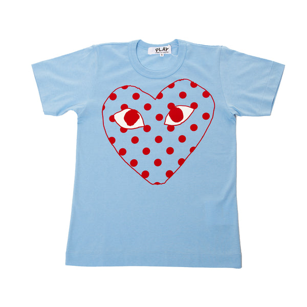 Comme Des Garcons Play Polka Dot Heart T-Shirt