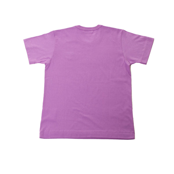 Comme Des Garcons Play Purple Red Heart T-Shirt