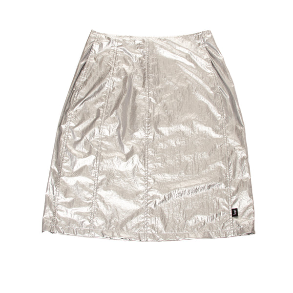 Stussy Shiny Panel Skirt Silver